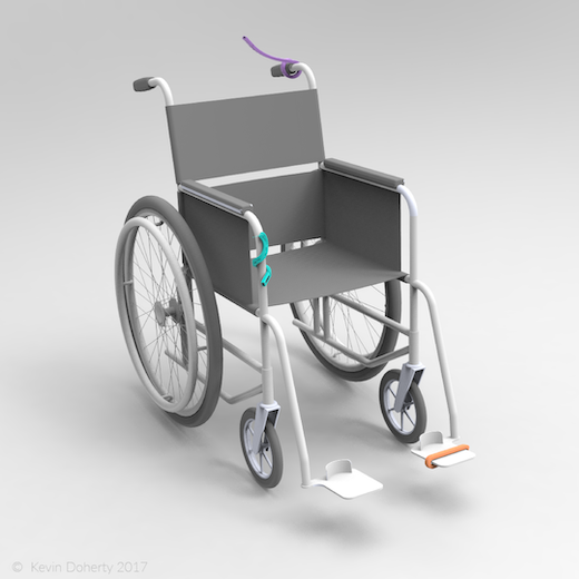 Image of Verve devices with a wheelchair
